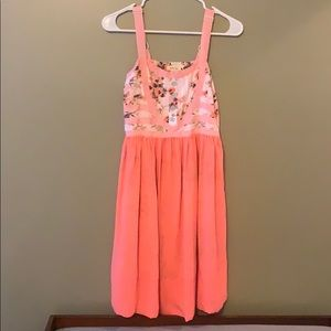 MJ Floral and Coral Dress